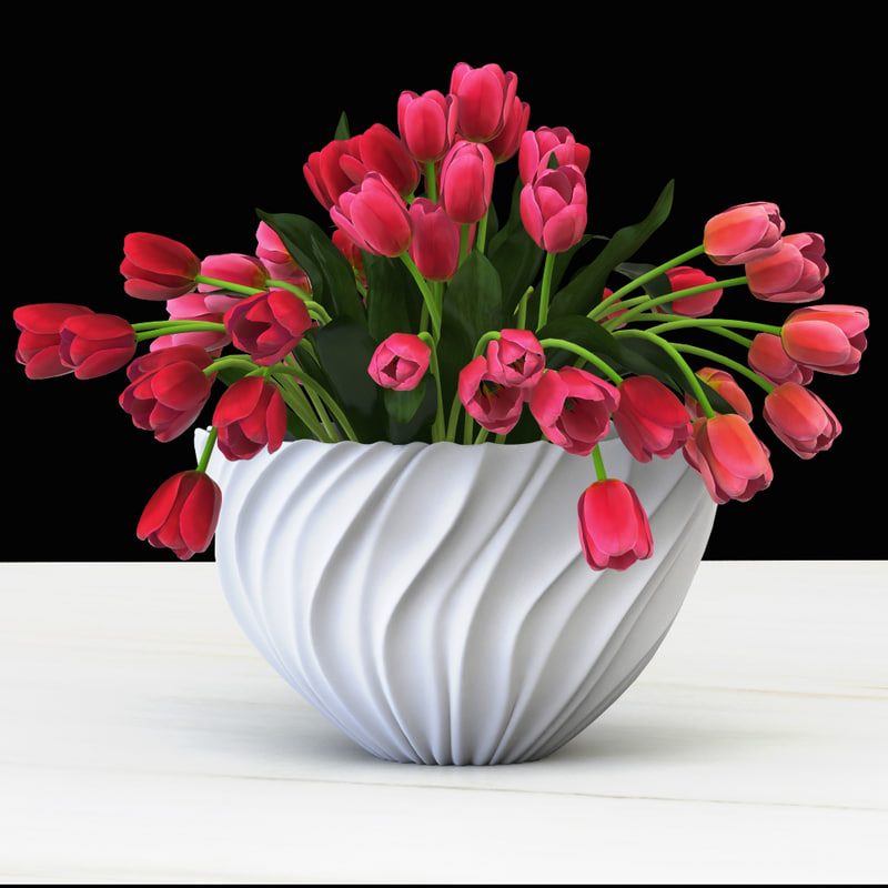 realistic tulips 3d model
