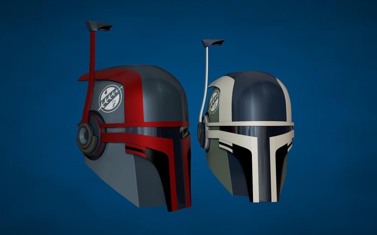 3d mandalorian bounty hunter helmet model