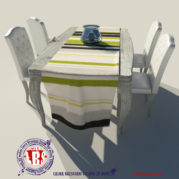 3d model table ancient