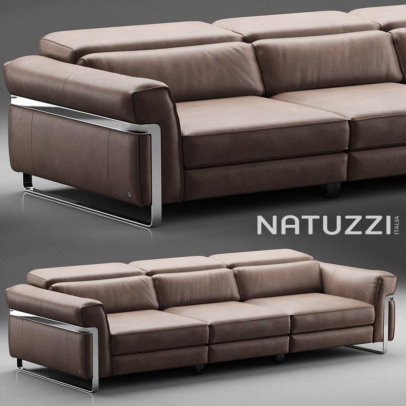 sofa natuzzi fidelio 3d model