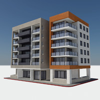 Modern Apartment City Building - HD Cityscape Tile 2