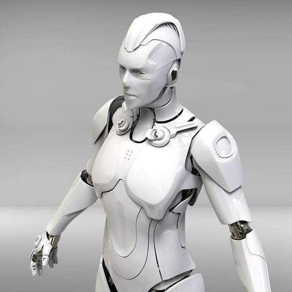 obj cyborg sci-fi robot