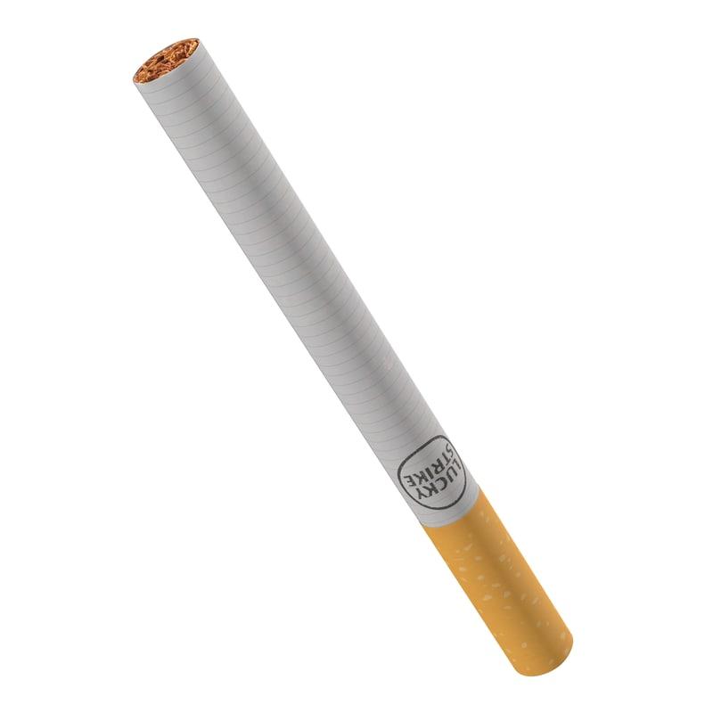 cigarette lucky strike 3d max