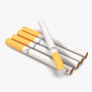3d model cigarette marlboro
