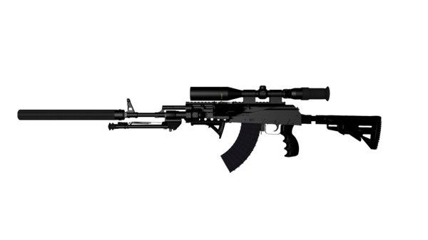 free lwo model ak47 ak-47