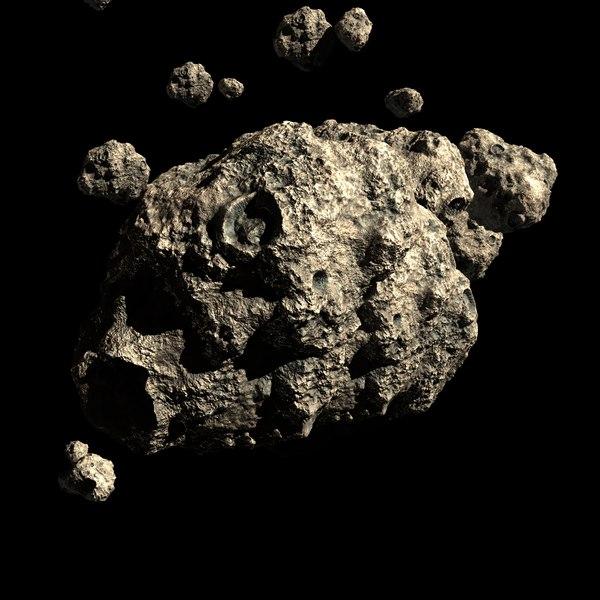 asteroid field scene obj