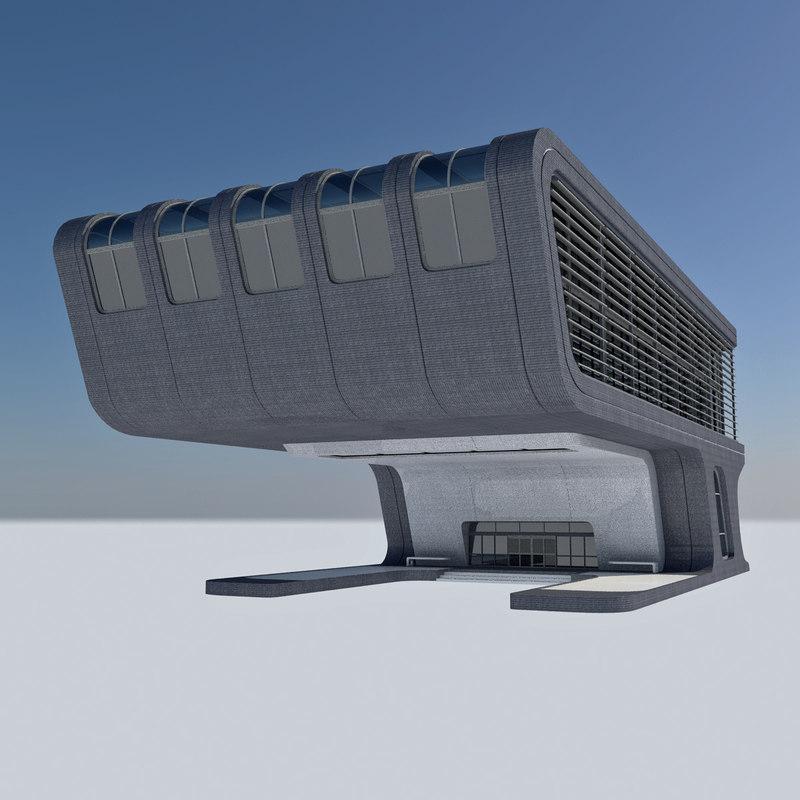 - futuristic office building max