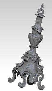 3d classic vase urn