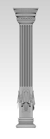 roma classic column 3d obj
