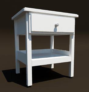 ikea tyssedal nightstand 3d model
