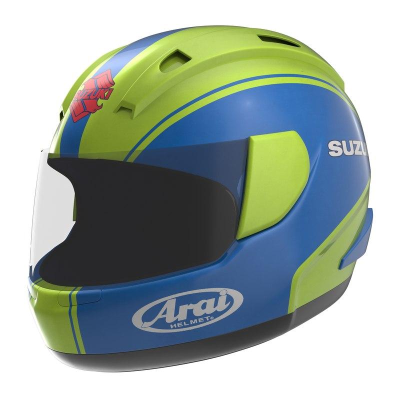 motorcycle helmet 2 3d model