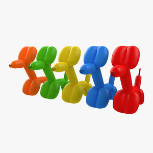 balloon dogs set 3d model