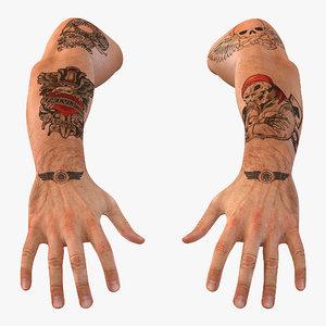 biker hands 3ds