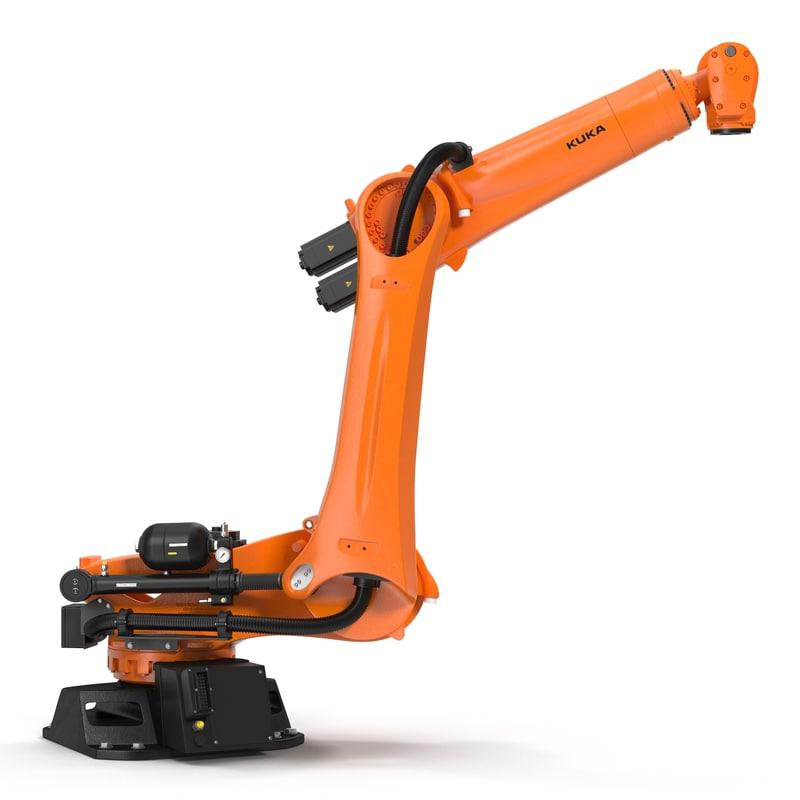 3d kuka robot kr quantec model