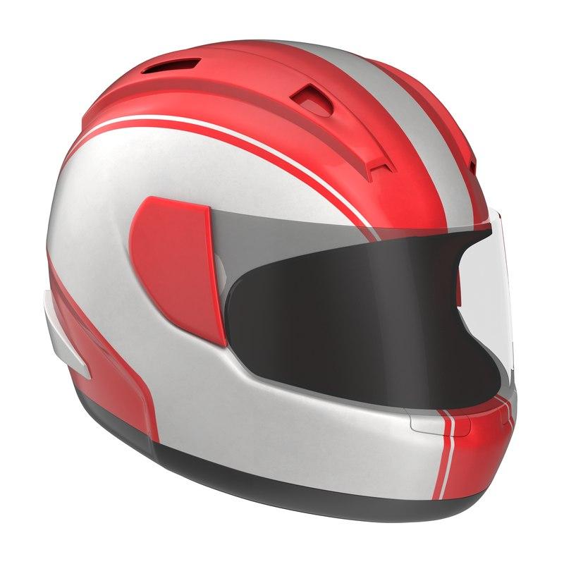 motorcycle helmet generic 3d 3ds
