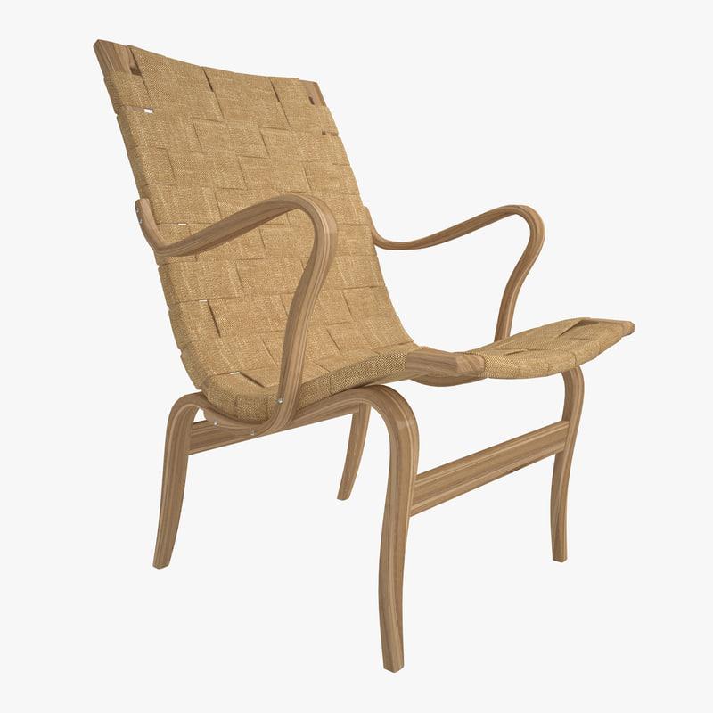 3d bruno mathsson easy armchair model