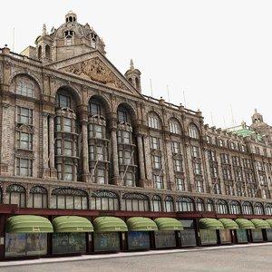 3d historic shopping mall harrods