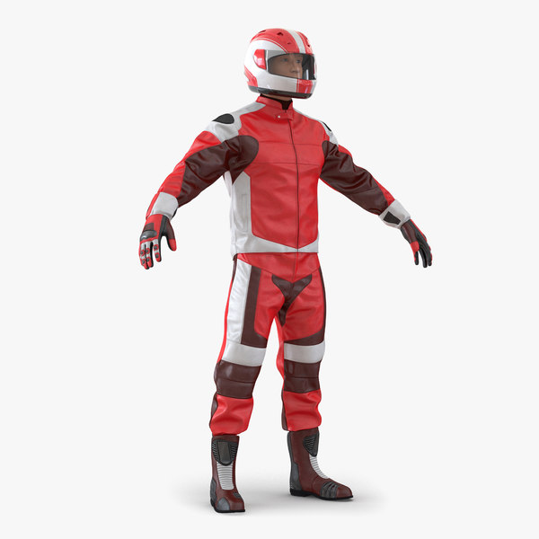 motorcycle rider generic 2 3d max