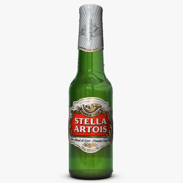 stella artois beer bottle 3ds