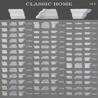eiling cornices Classic home(vol2)