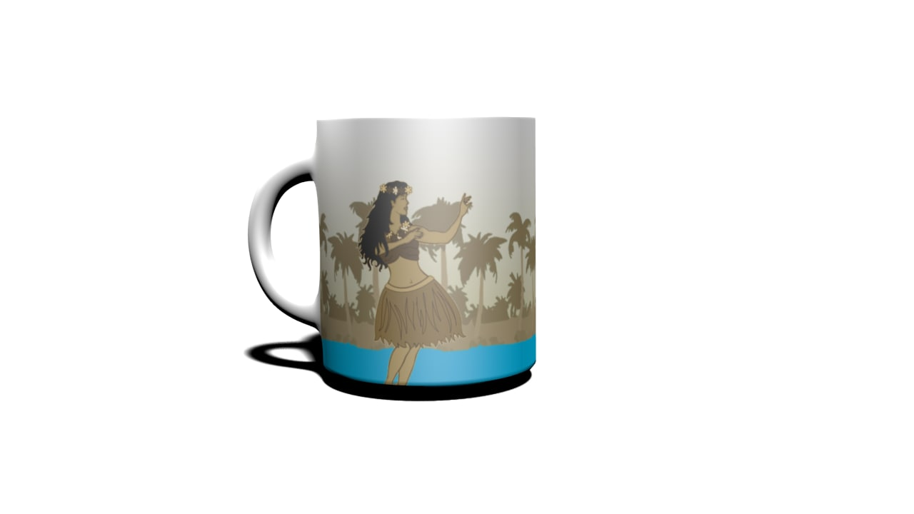 waikiki cup obj