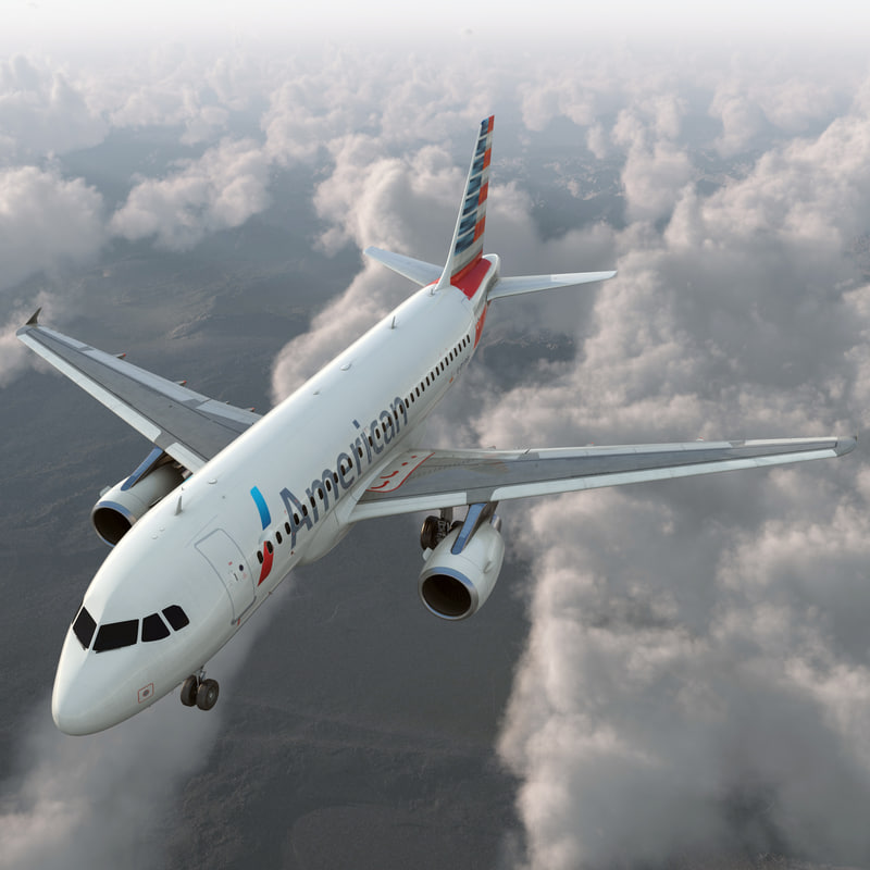 3ds airbus a319 american airlines