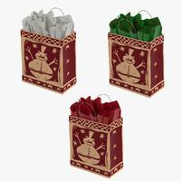 3d model christmas bags