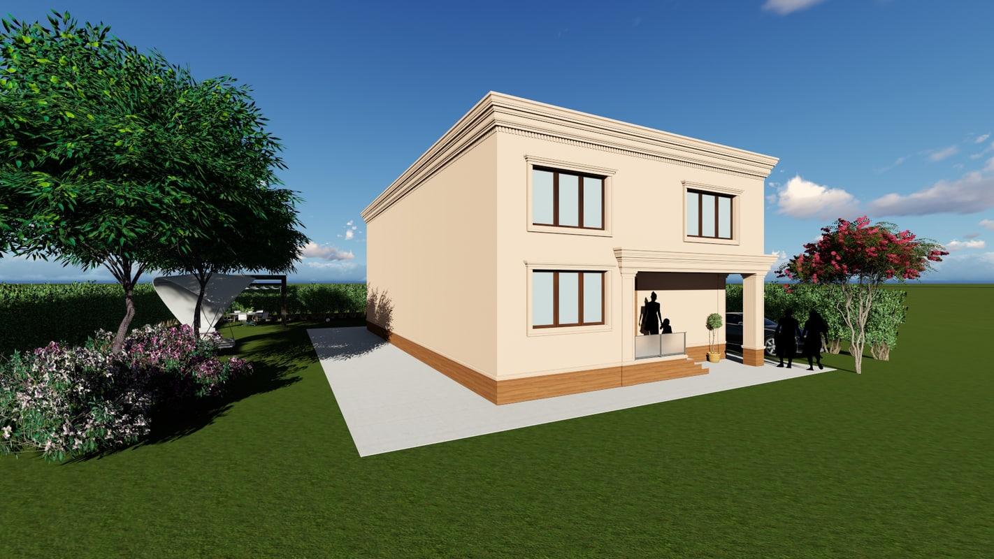 modern facade elements 3ds