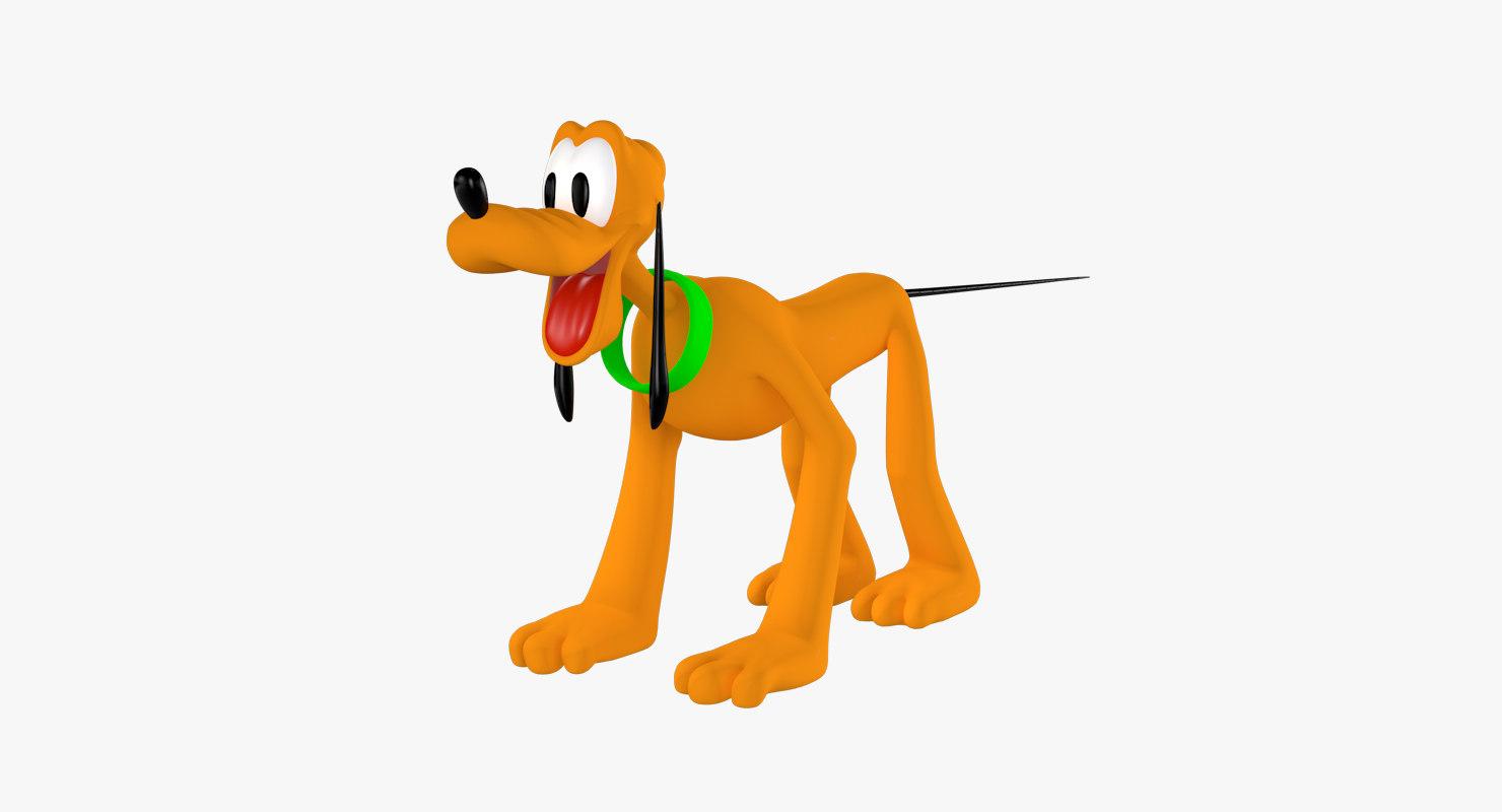 pluto cartoon animation 3d 3ds