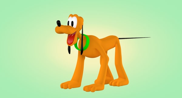 pluto cartoon animation 3d 3ds
