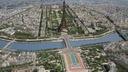 paris city eiffel tower 3d max