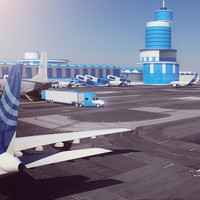 3d model cool airport