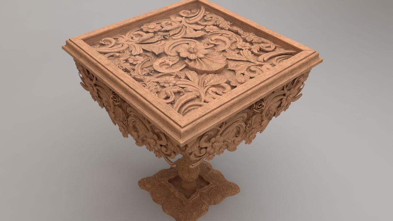 3d ornament table model