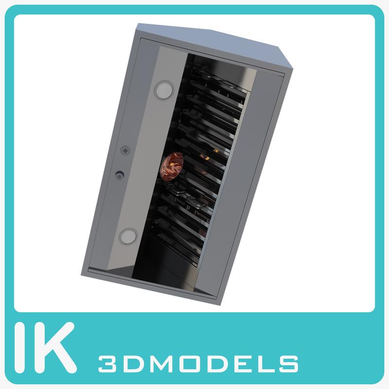 viking vwh54248 inch ventilation 3d model