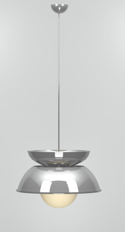 vico magistretti lamp cetra 3d model