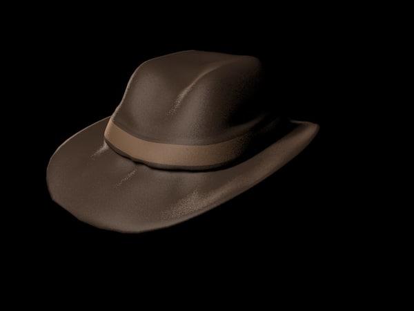hat hard boiled 3d c4d