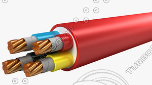electrical cables lshf multi 3d model