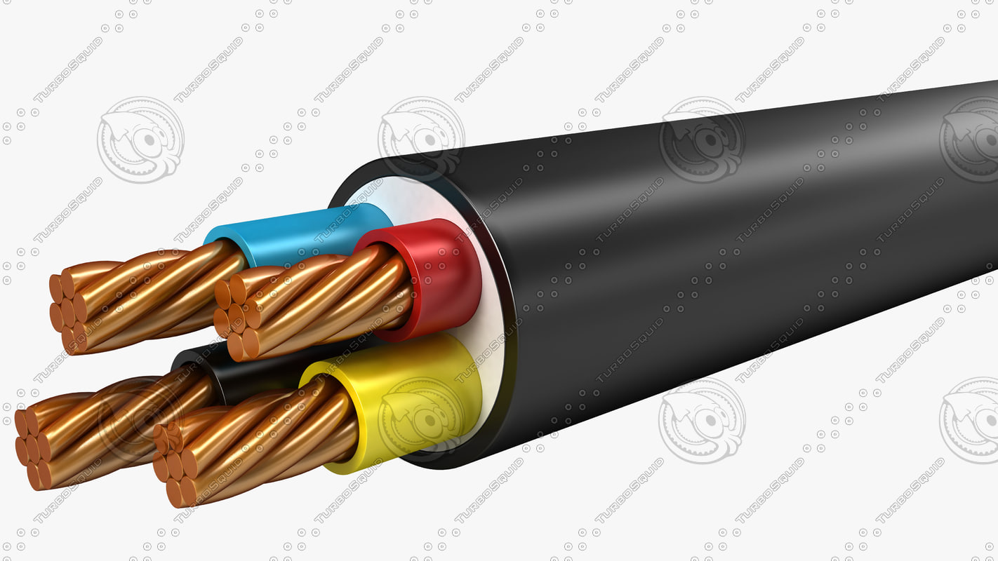 3d model electrical cables lshf multi