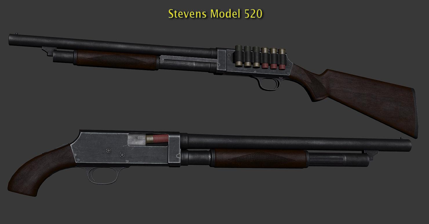 max stevens pump action shotgun