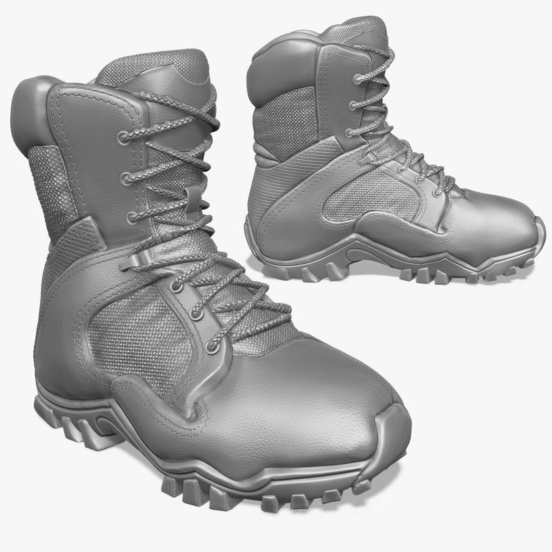 zbrush sculpt tactical boots 3d model