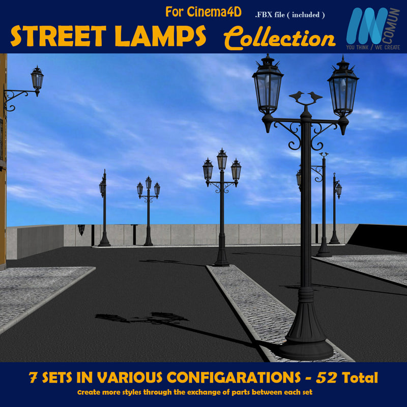 street light lamp c4d