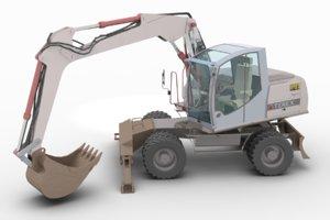 3d model of terex tw 170 excavator