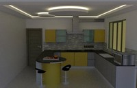 kitchen design 3d 3ds