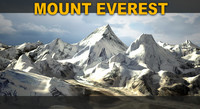 mount everest 3d model
