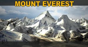 mount everest 3d model