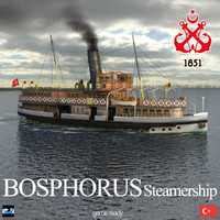 bosphorus steamship uskudar 3d max