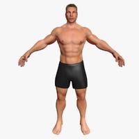 3d male base mesh