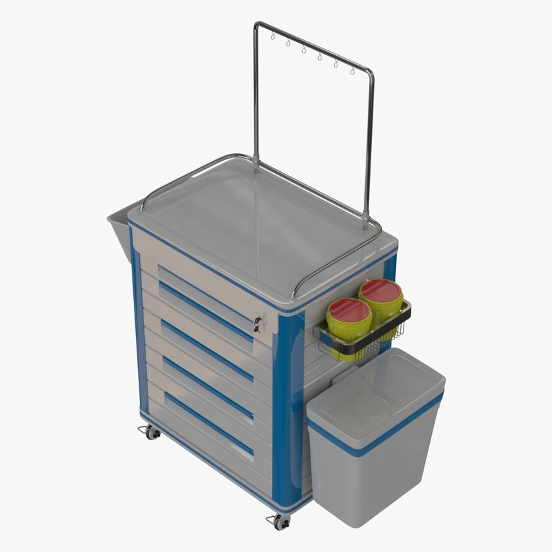 medical equipment trolley 3d fbx