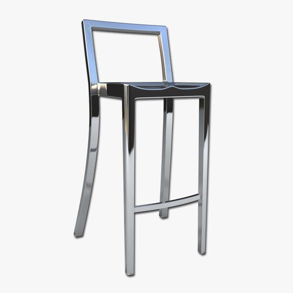 bar stool 3d 3ds
