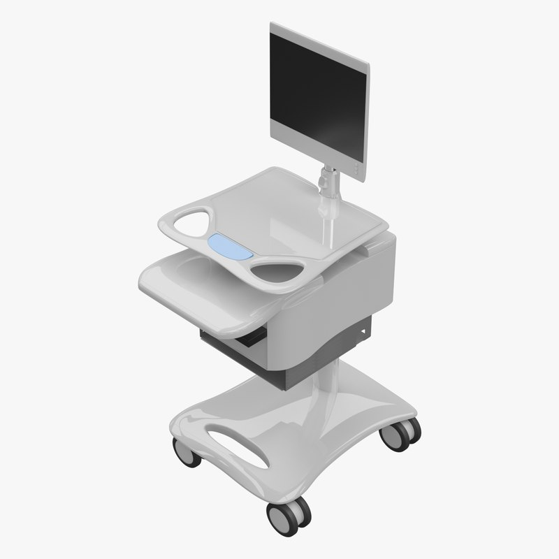 medical equipment trolley 3d blend